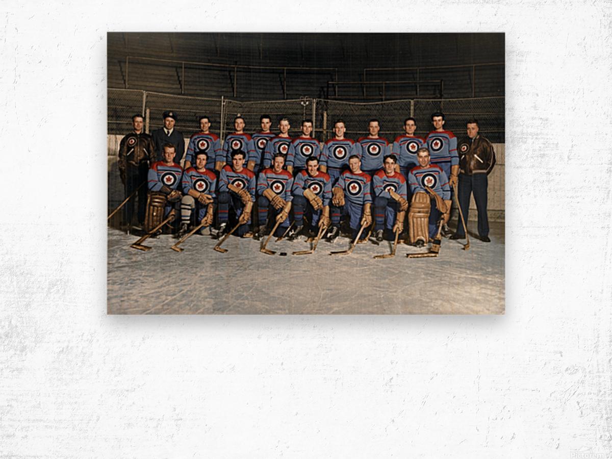 RCAF Flyers - Canadian Olympic Hockey Team October 29 1947 Wood print