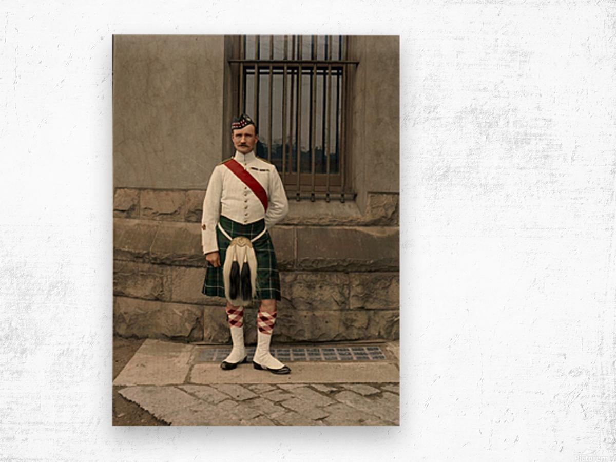 RSM David Nelson 72nd Regt. Seaforth Highlanders of Canada c.1913 Wood print