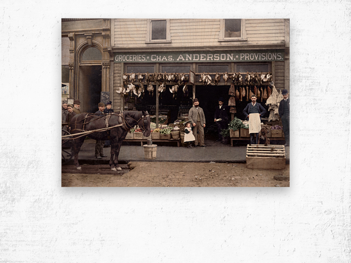 Chas Anderson Grocery Vancouver 1890s Wood print