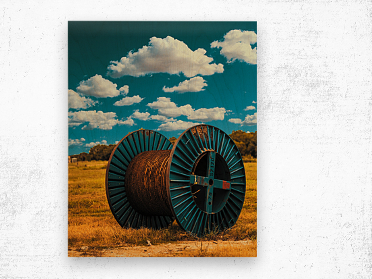 Lonely Spool Wood print