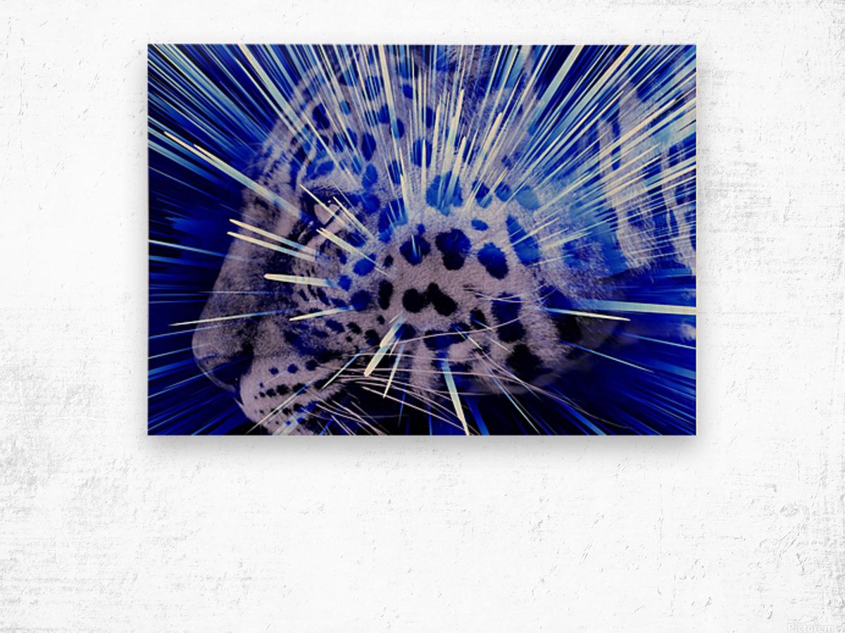 Leopard pop 4  Wood print