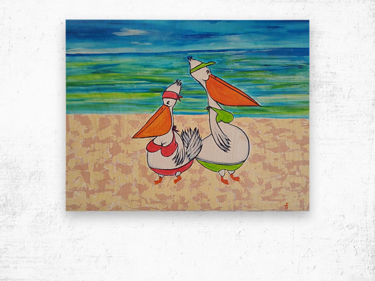 Pelican Mothers Impression sur bois