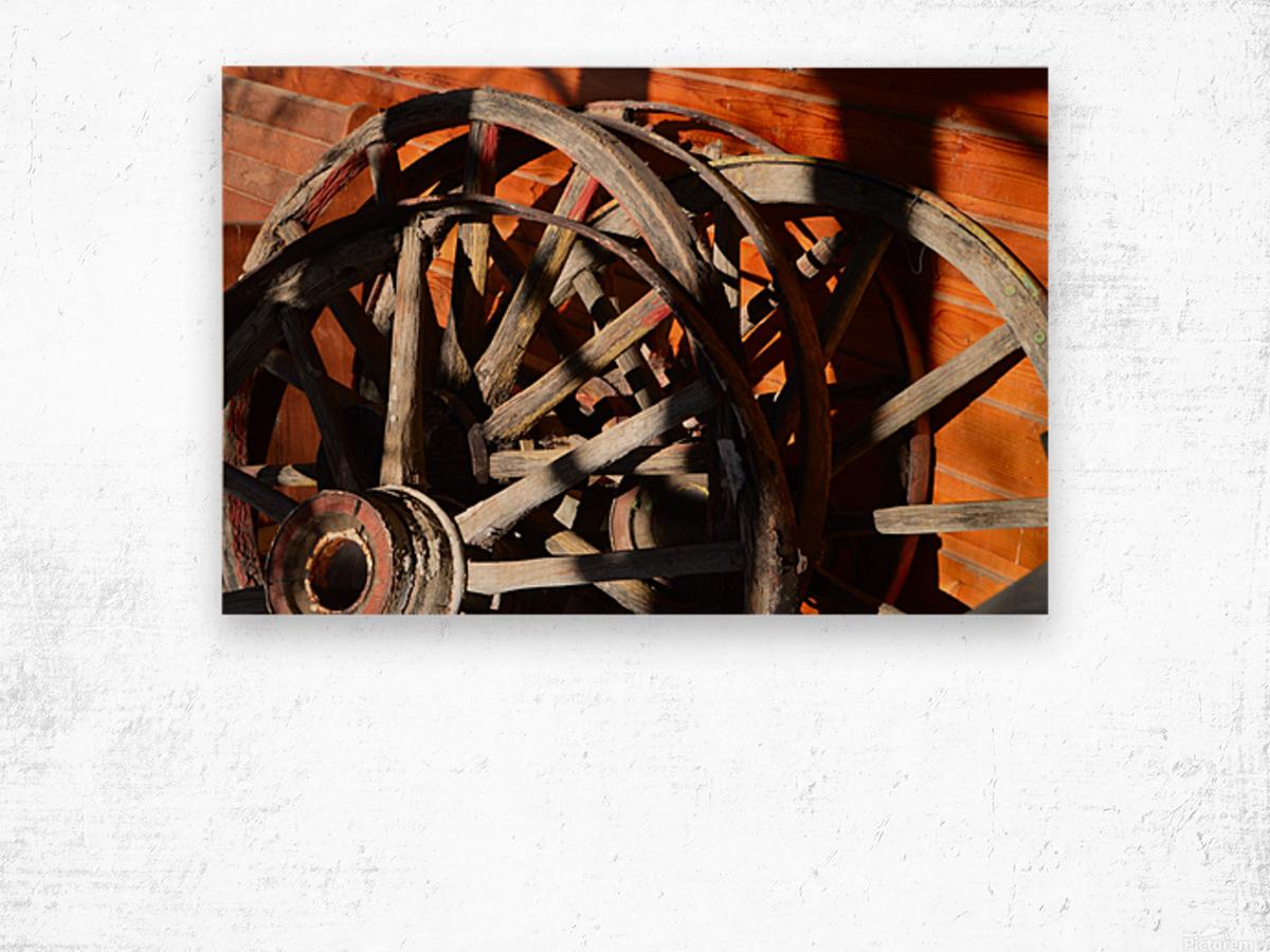 Wagon Wheels.05 Wood print