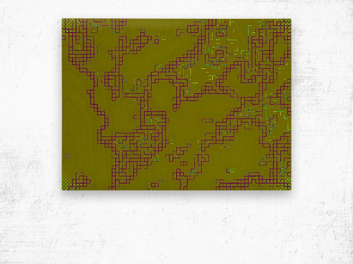 Abstract 5 Wood print