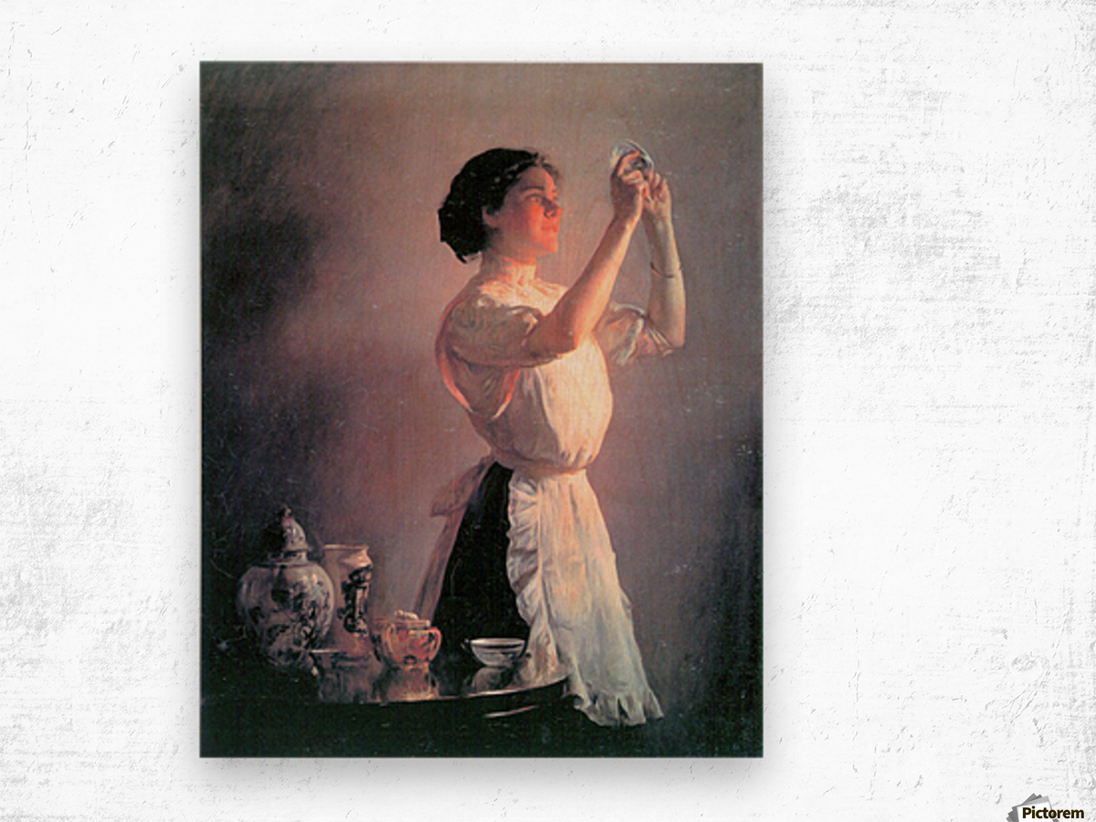 The blue cup by Joseph DeCamp Wood print