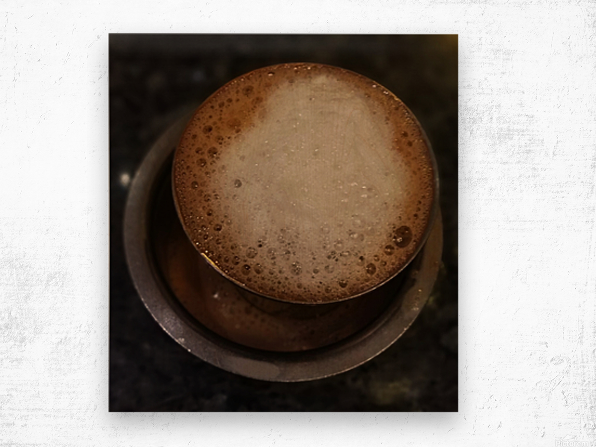 Indian Filter Coffee Wood print