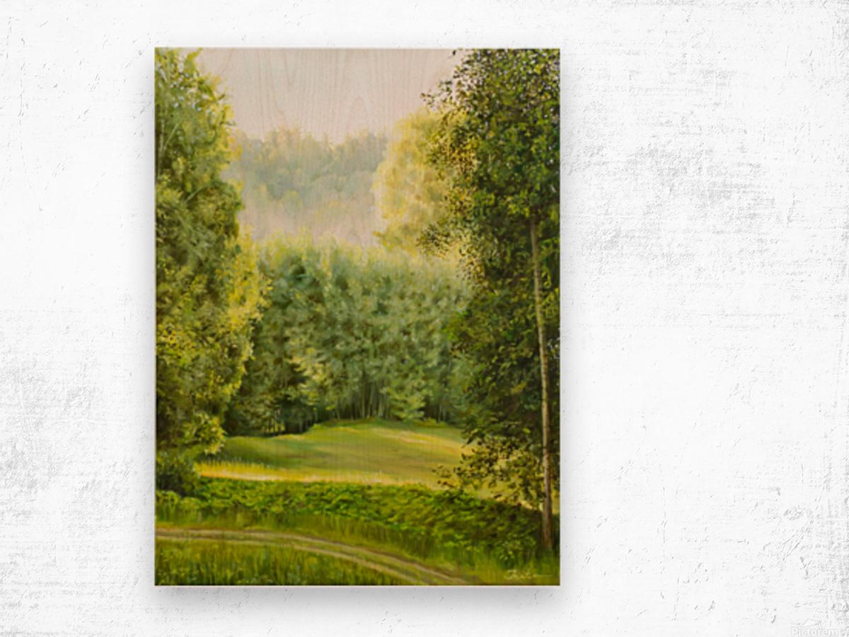 Chasing sunrise Wood print