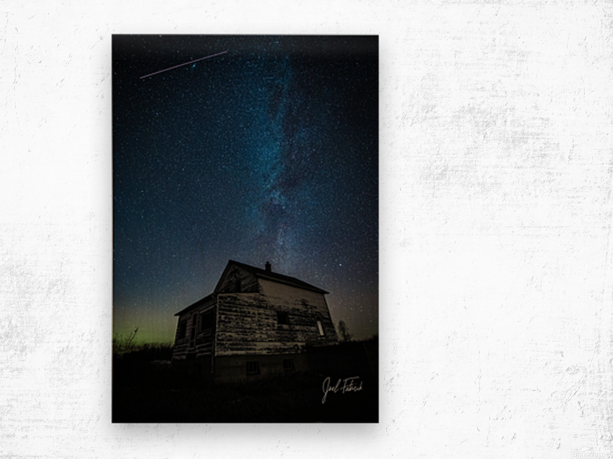 Abandoned House Milky Way   Hi Res   A3 Wood print