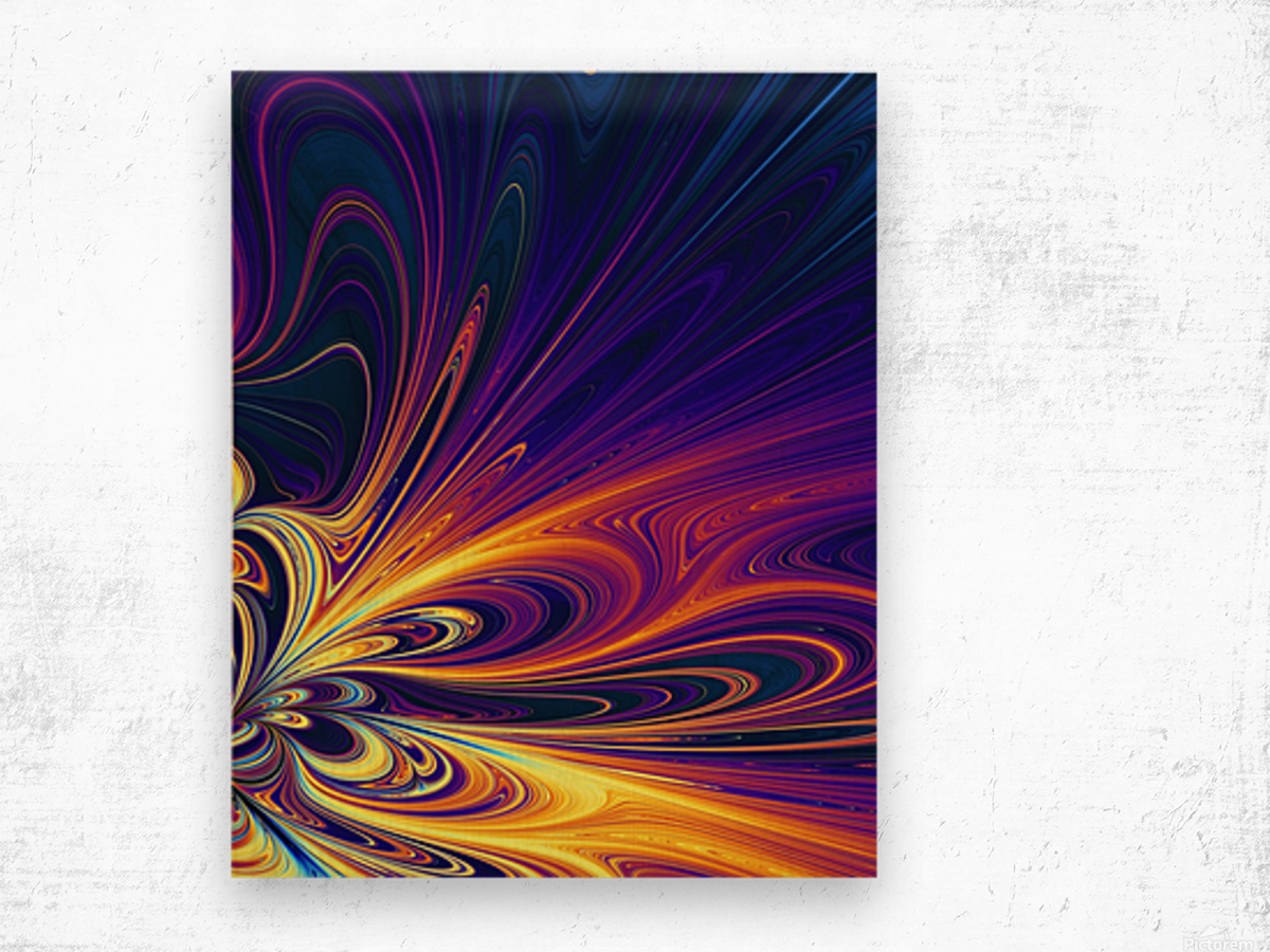Abstract Composition 374 Wood print