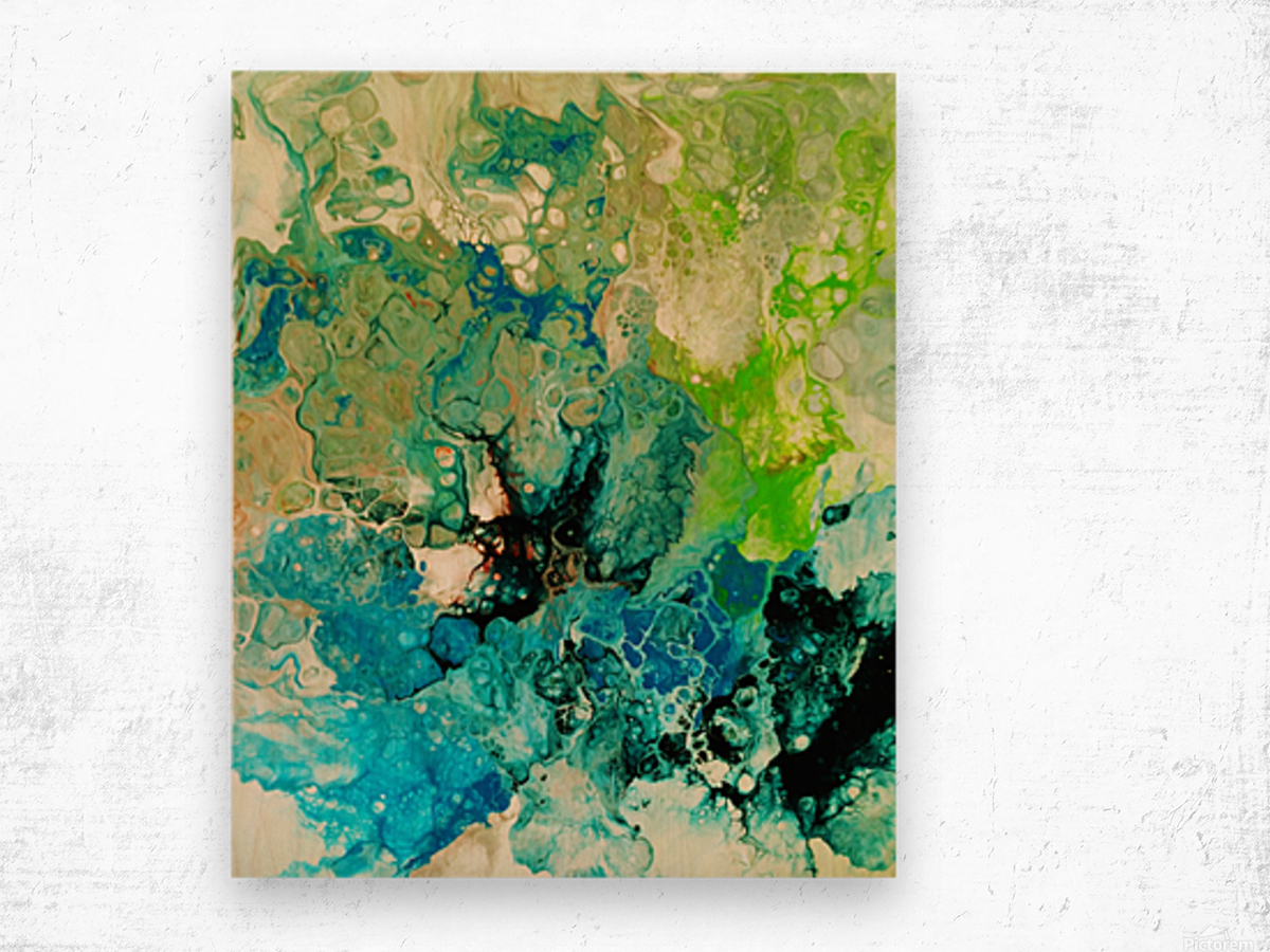 Abstract Composition 754 Wood print