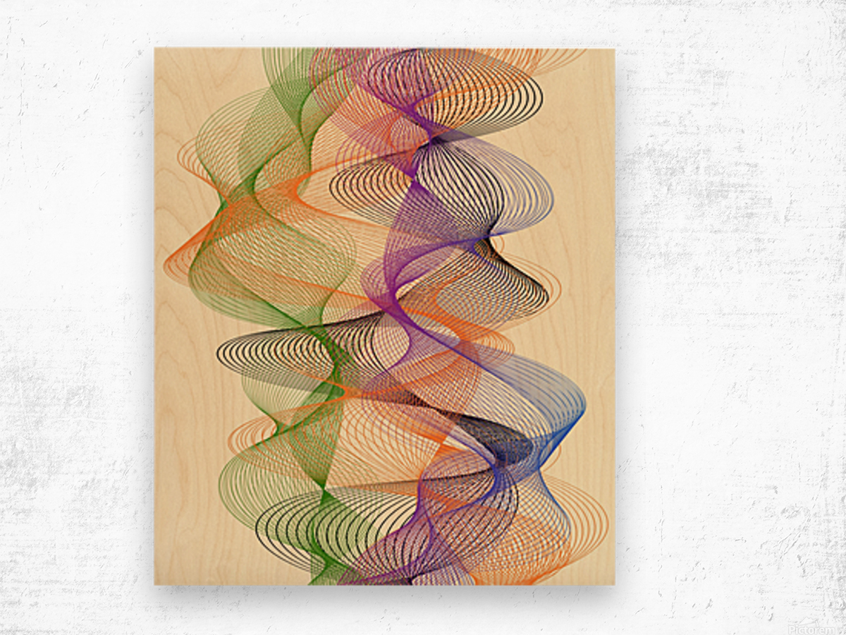 Abstract Composition 717 Wood print