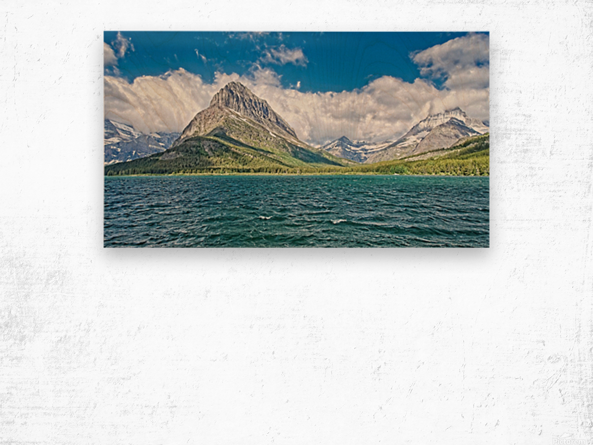 Mount Grinnell Wood print