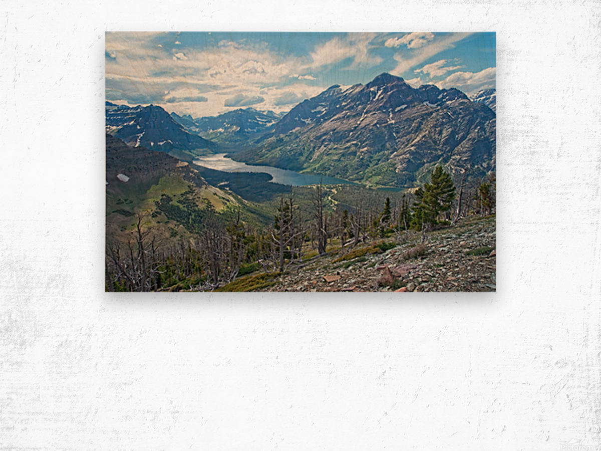 Two Medicine at Glacier National Park Wood print