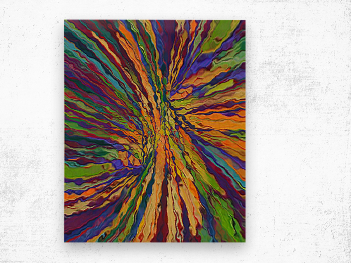 Abstract Composition 141 Wood print