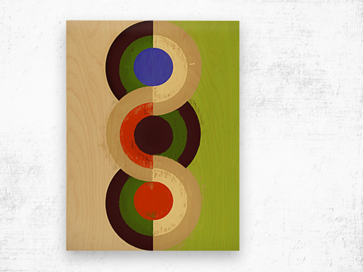 Abstract Composition 626 Wood print