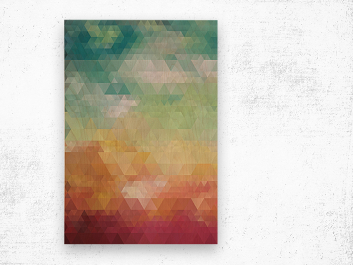 Abstract Composition 550 Wood print