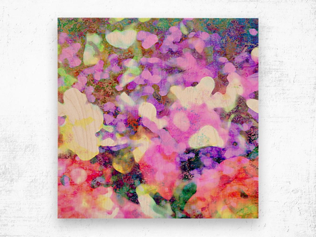 Petals on the Breeze Wood print