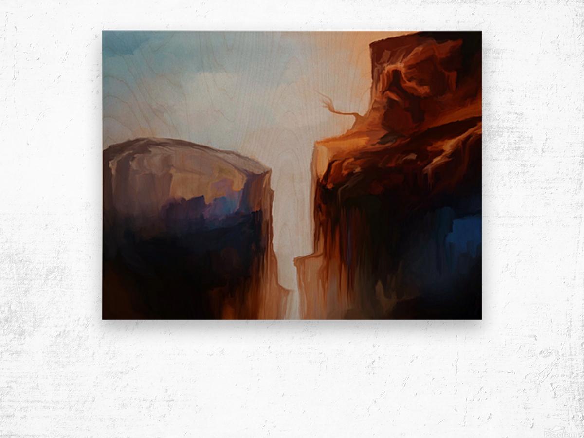 Sharp Cliffs Wood print
