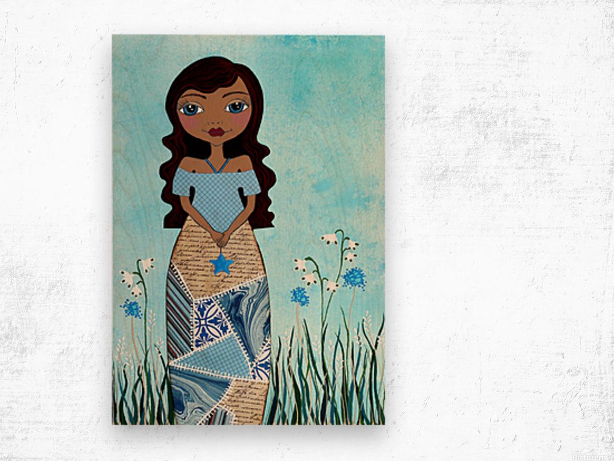 Wish Girl Wood print