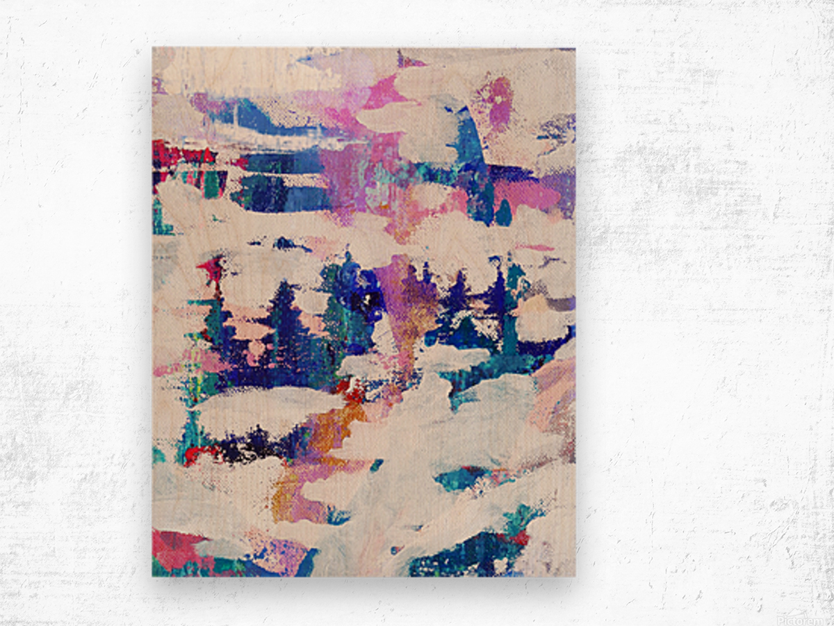 Winter Woodland Wood print