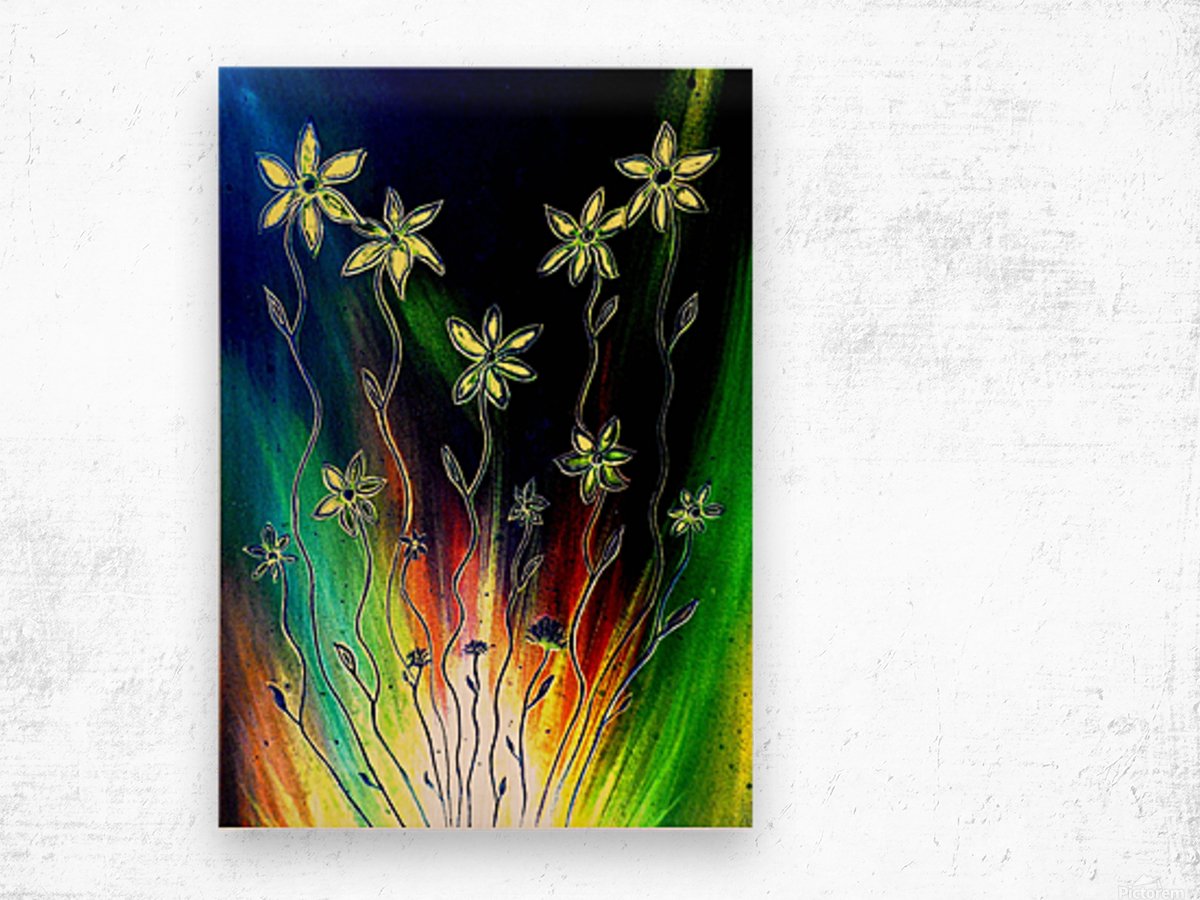 Flower Burst Wood print