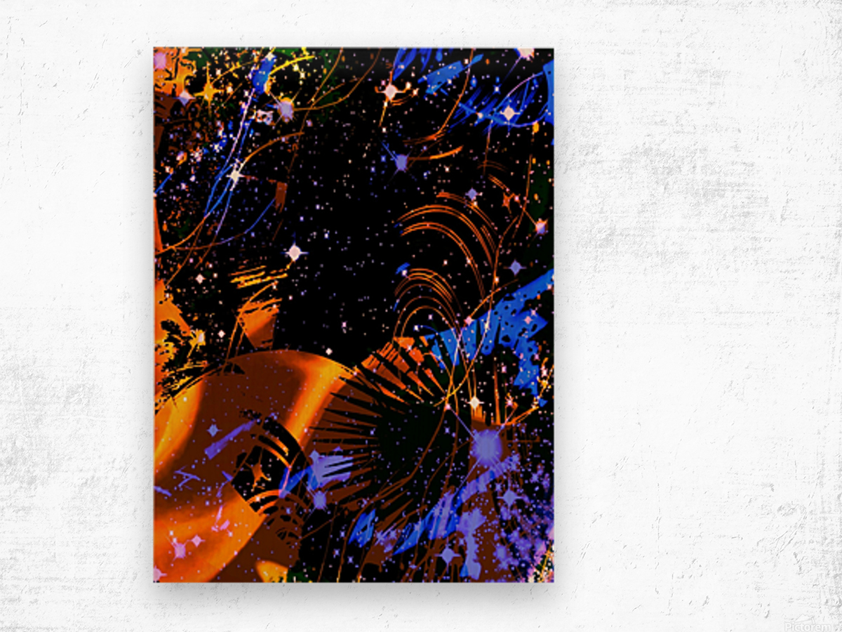 The Imaginary Planets Series 6 Wood print