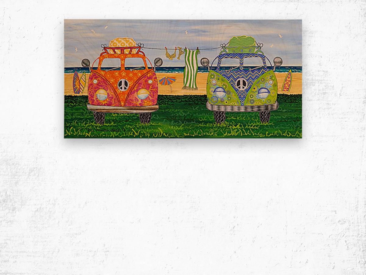 Hippy Van Holiday no.1 Wood print
