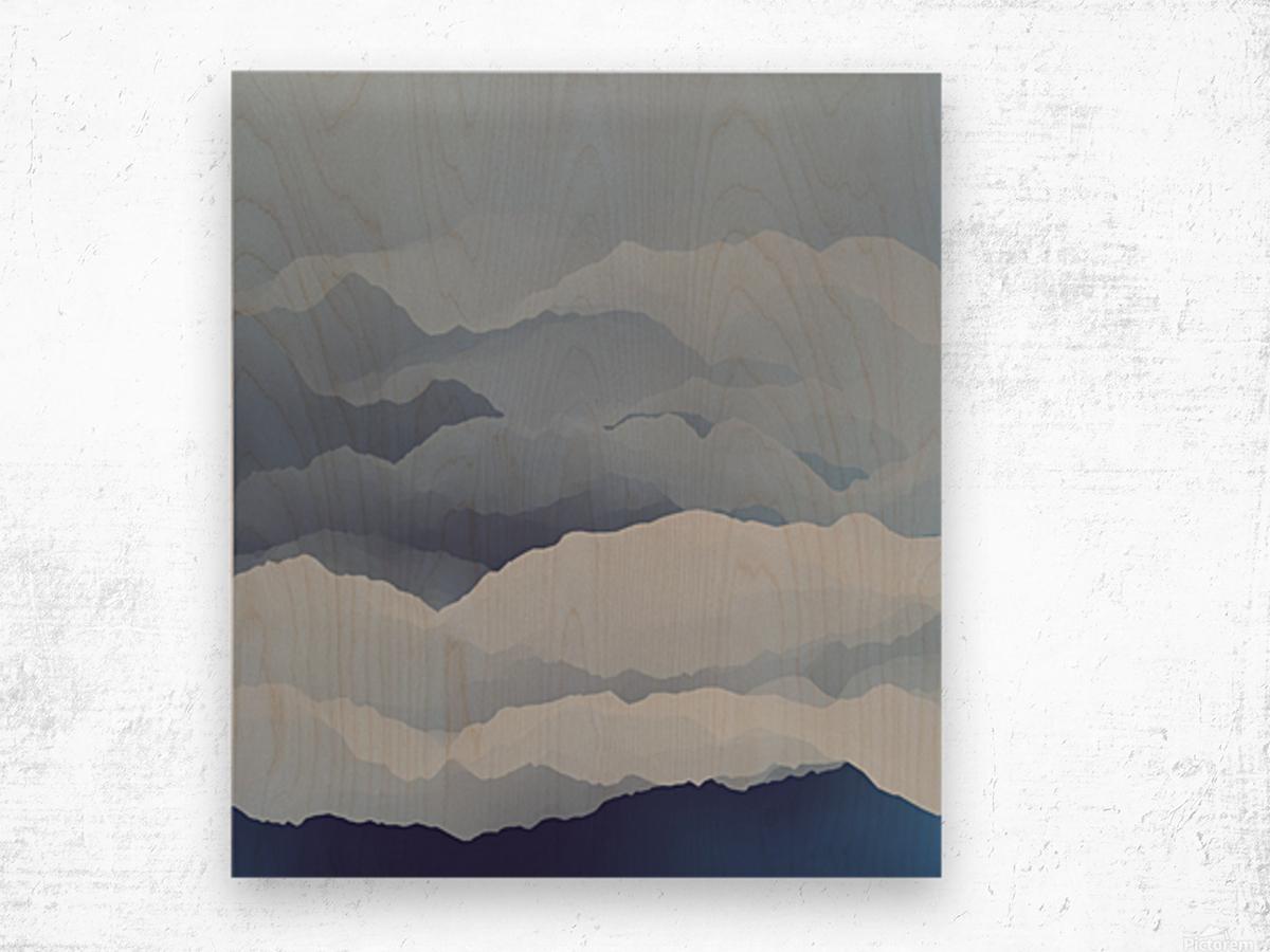 Beautiful Mountains Wood print