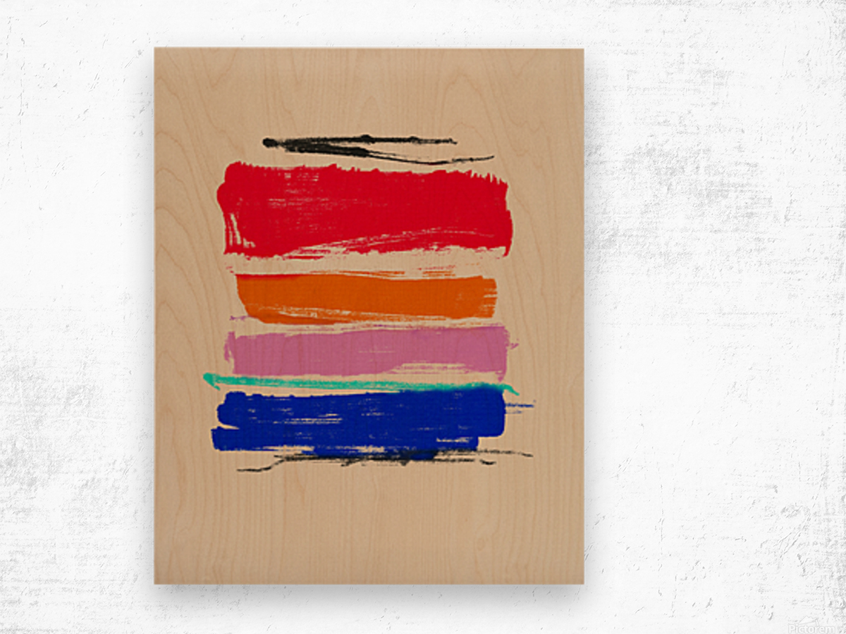 Abstract Composition 782 Wood print