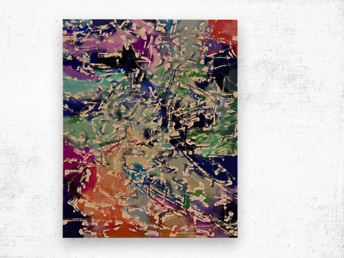 Abstract Composition 781 Wood print