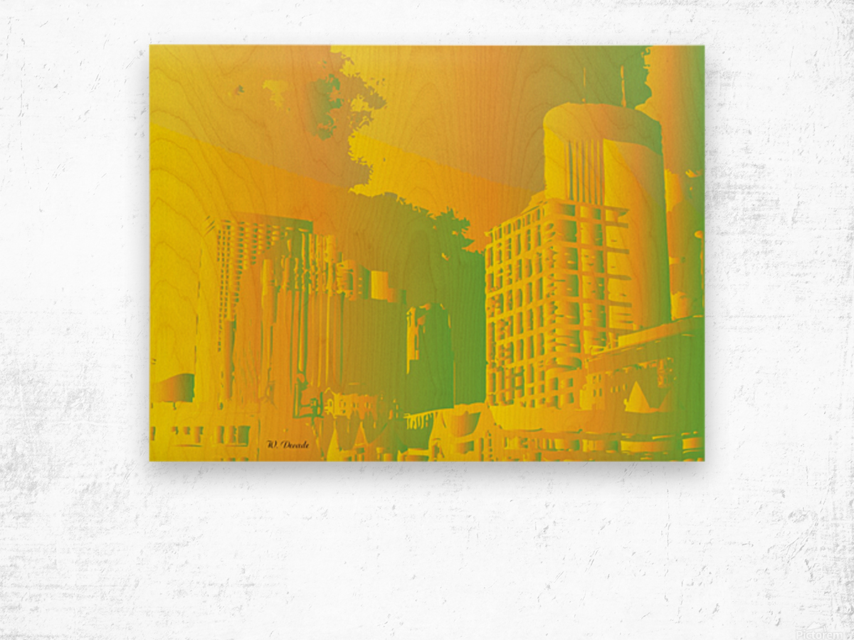 Abstract Building Minneapolis Skyline Wood print