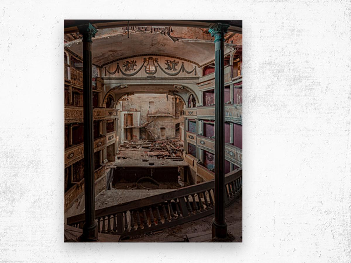Abandoned Cinema Wood print