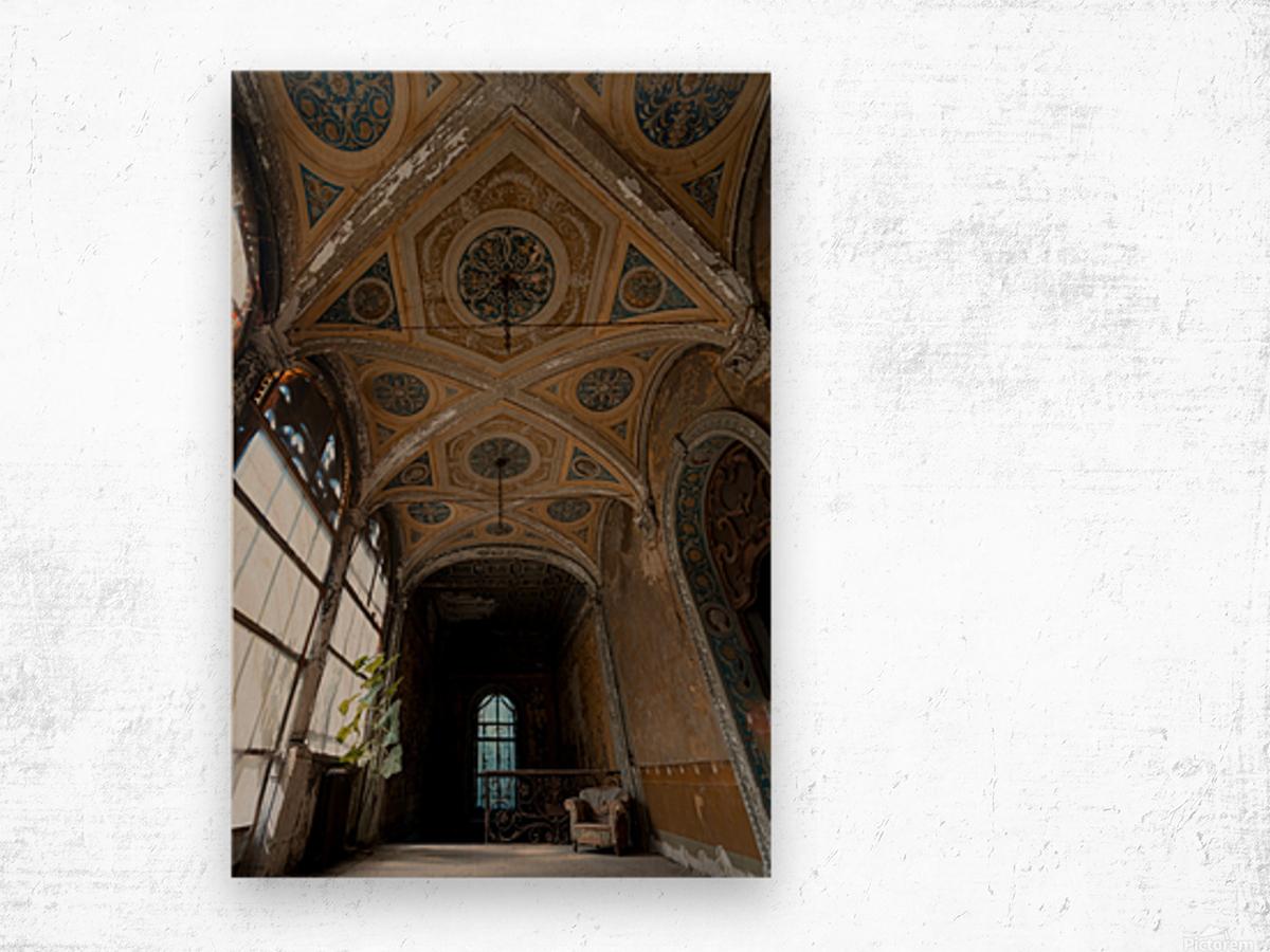 Abandoned Chateau FairyTale Wood print