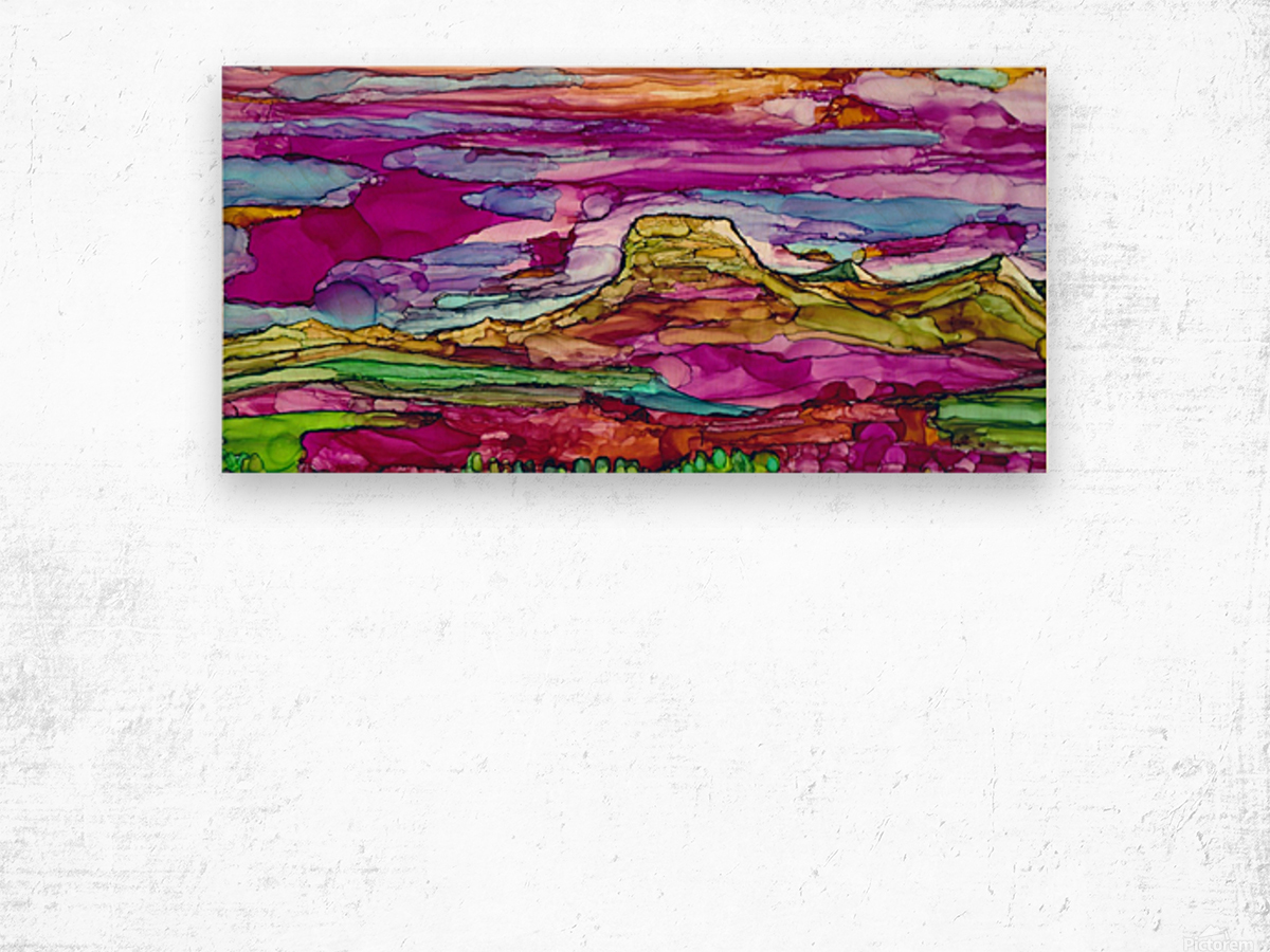 Chief Mountain Sunset  Wood print