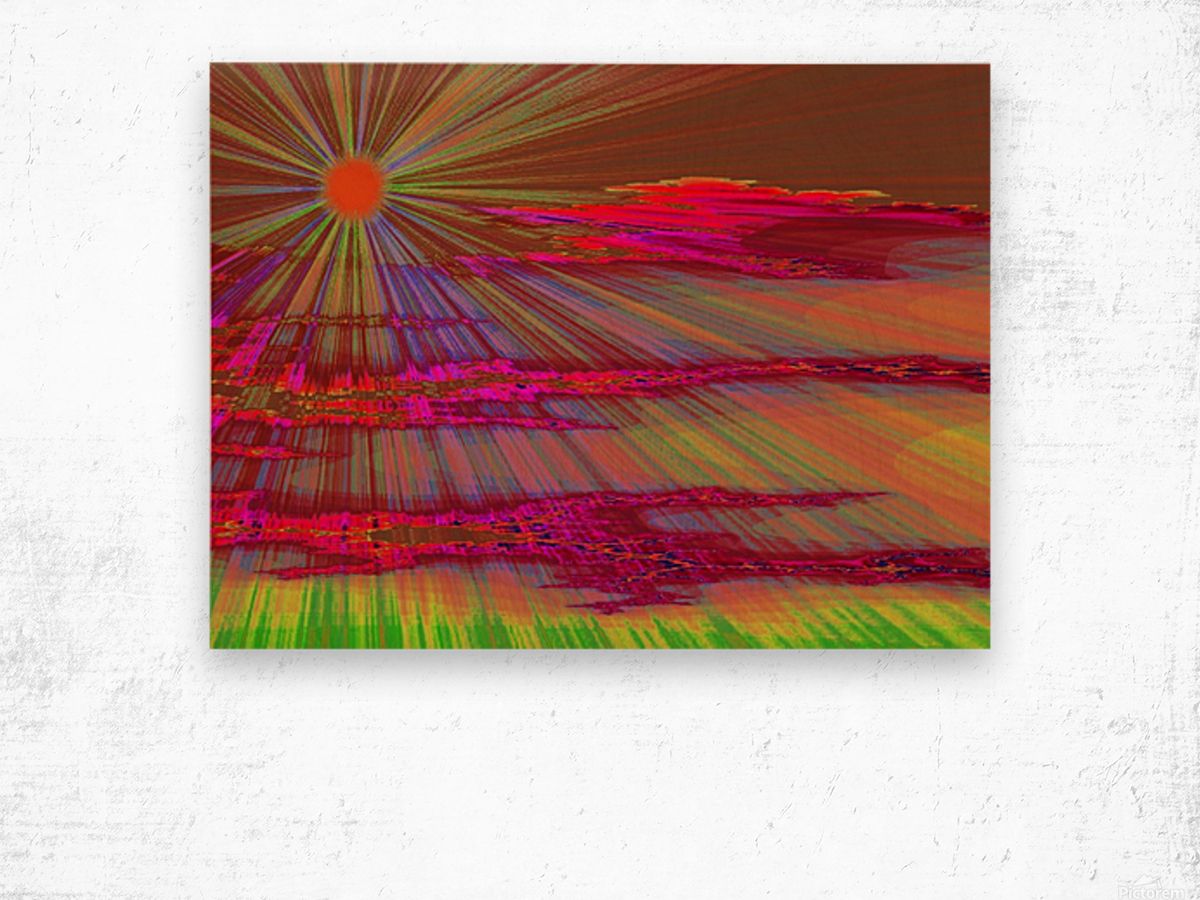 Sunrise In The Klamath Basin 2  Wood print