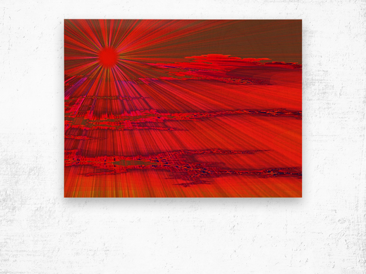 Sunshine In The Klamath Basin 1  Wood print