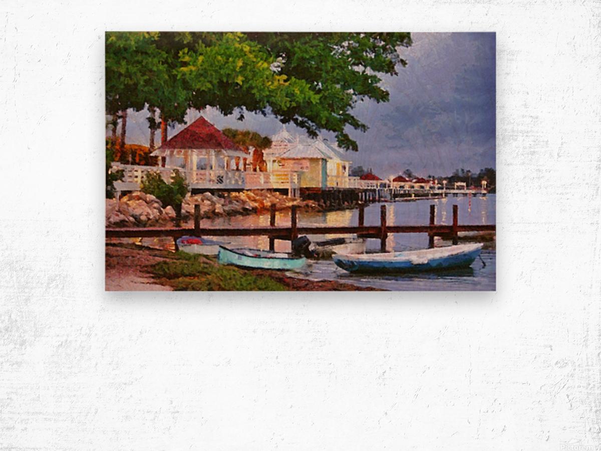 The Pier On Bridge Street Wood print