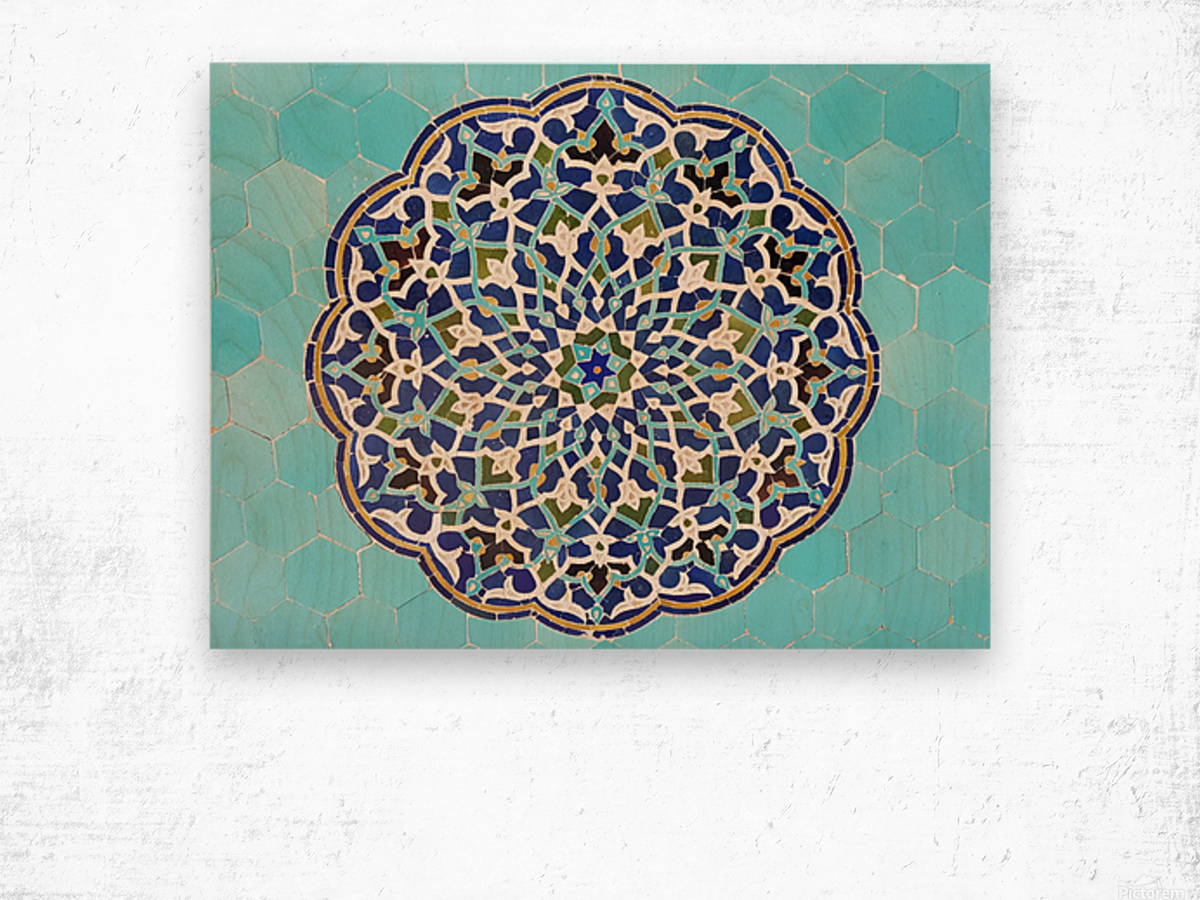Yazd   Jameh mosque 2 Wood print