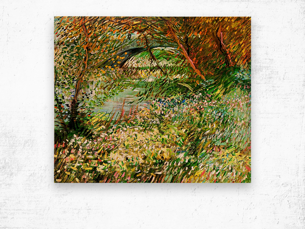 Banks of the Seine with Pont de Clichy in the Spring by Van Gogh Wood print