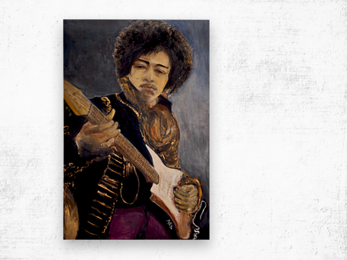 Jimi_High_Res Impression sur bois
