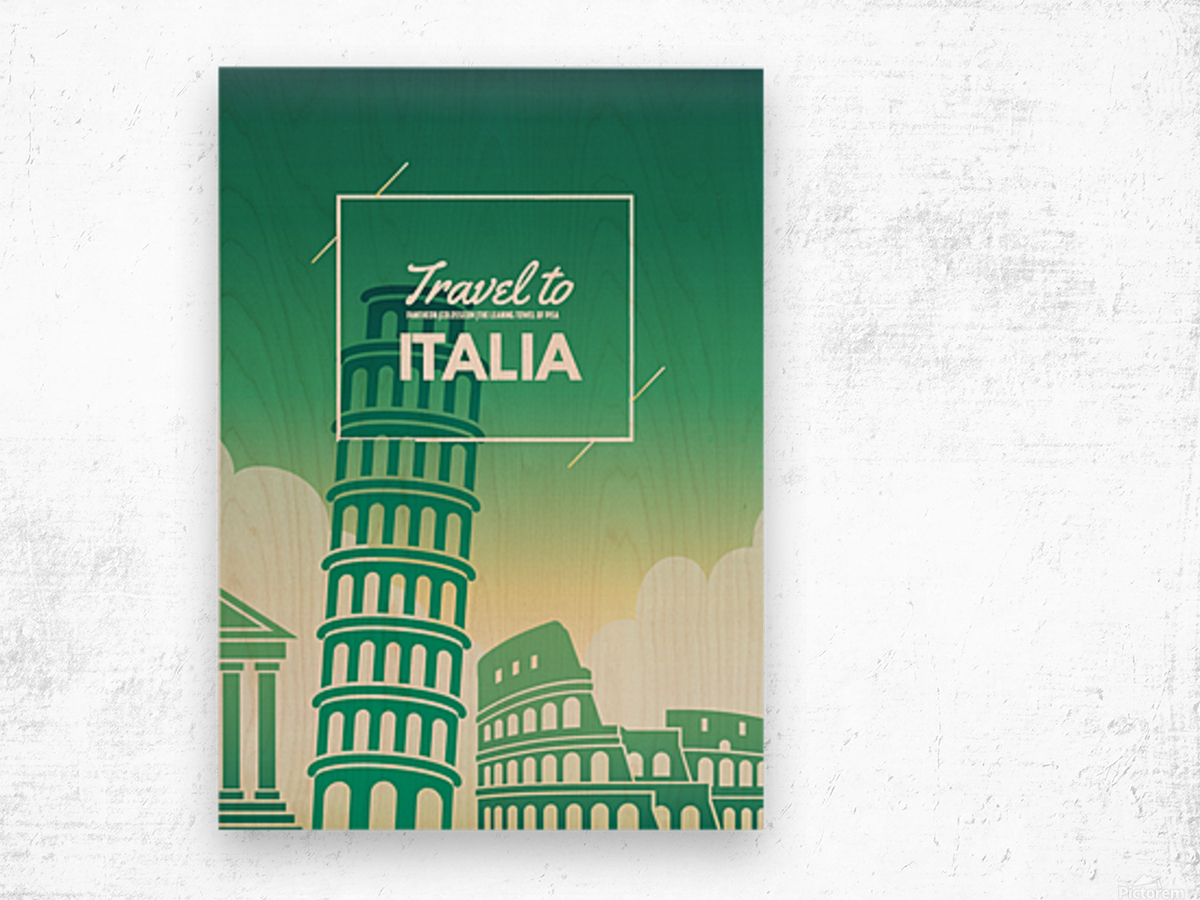 Travel to Italy Wood print