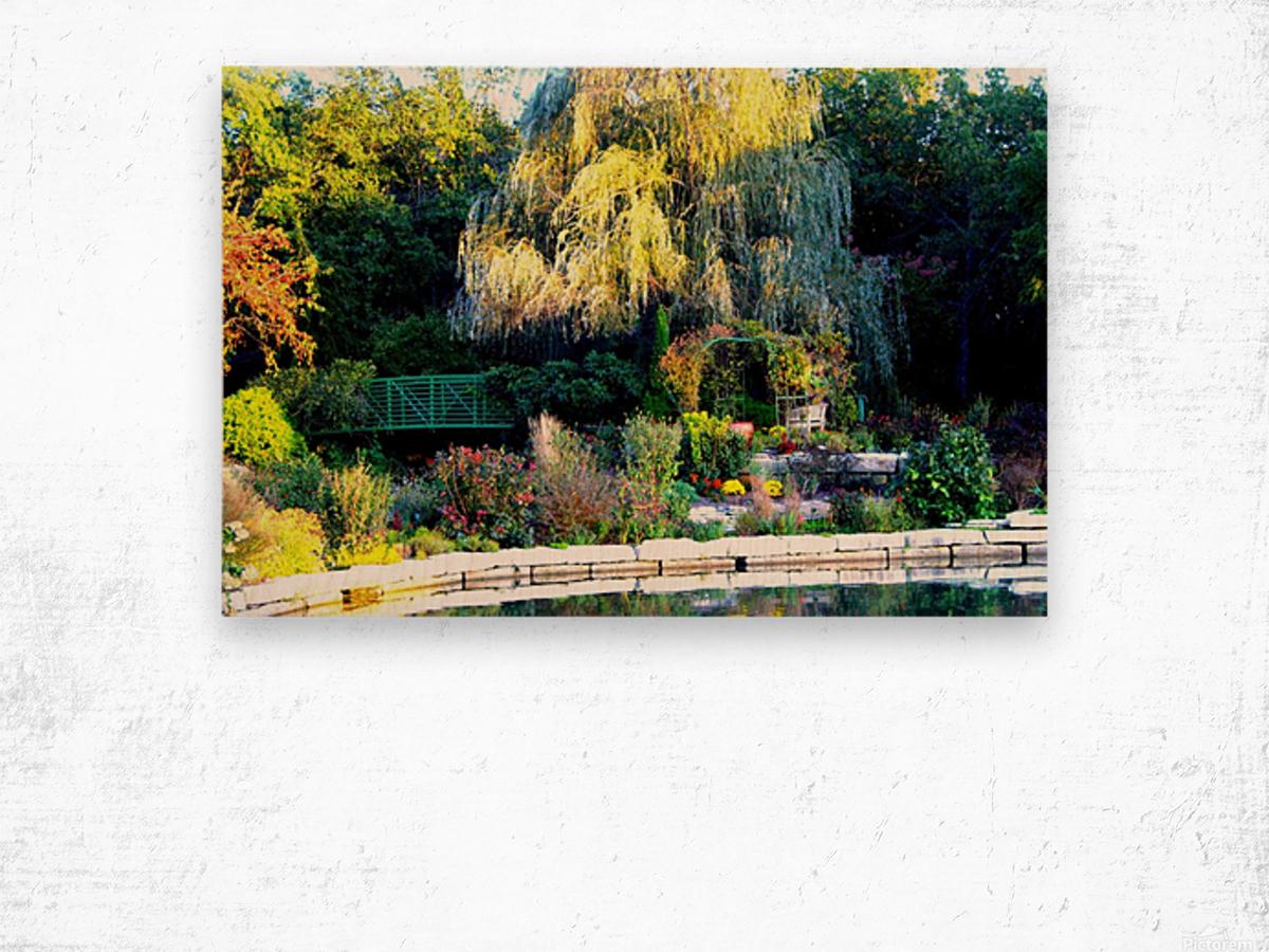 Reflections of a Monet Garden Wood print
