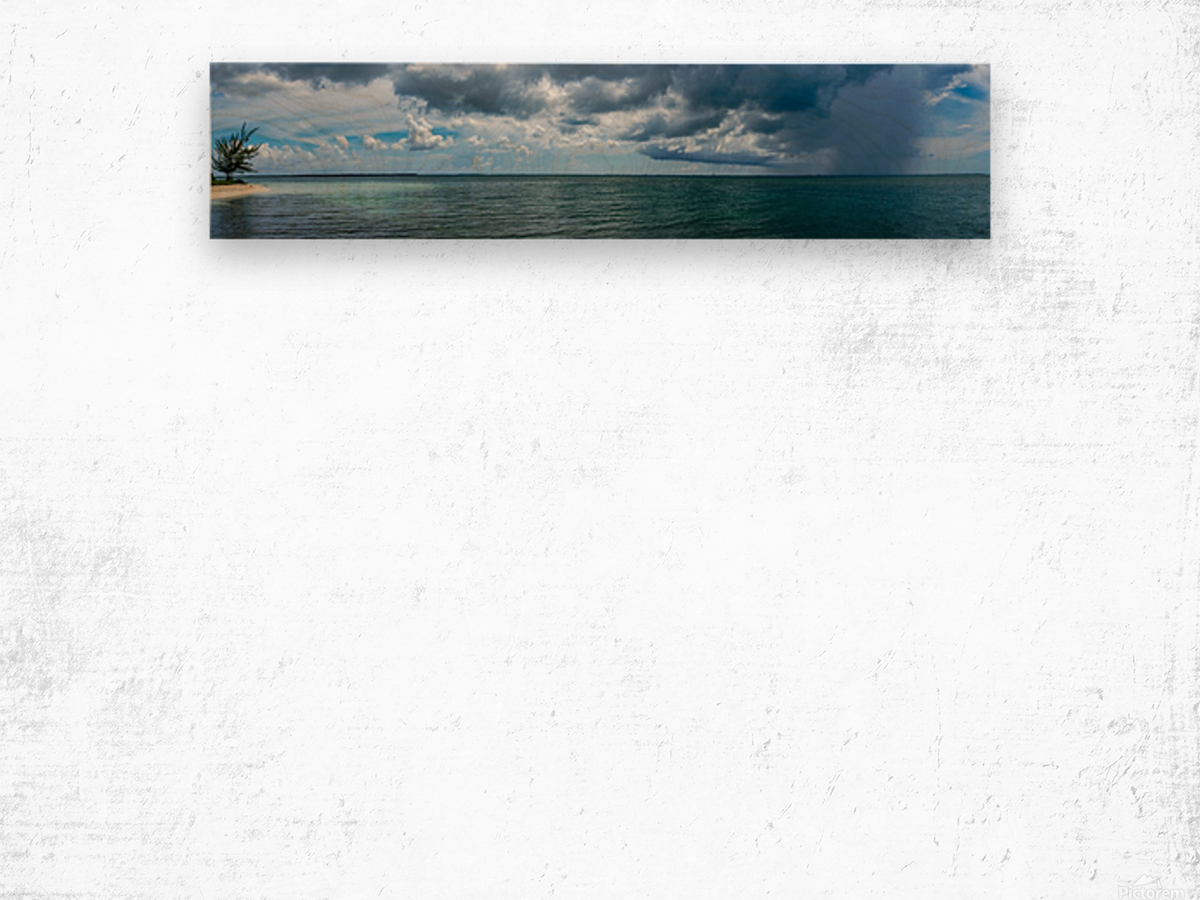 View of Georgetown  from Starfish Point in Grand Cayman Wood print
