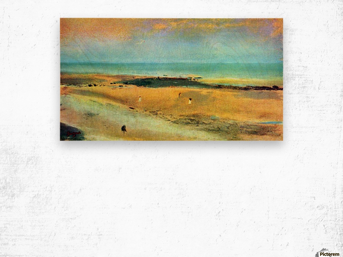 Beach at low tide 1 by Degas Wood print