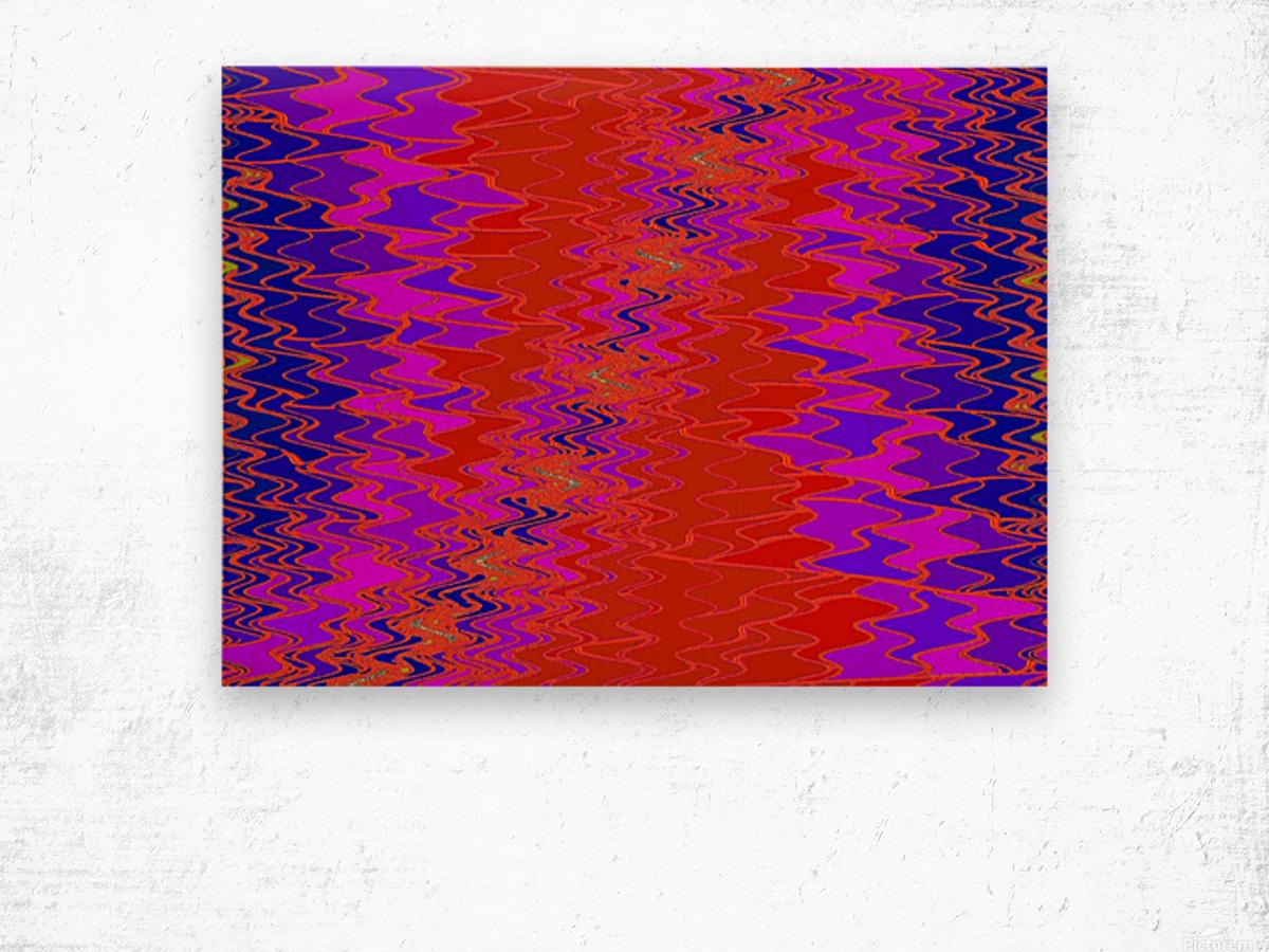 Zig Zag 11 Wood print