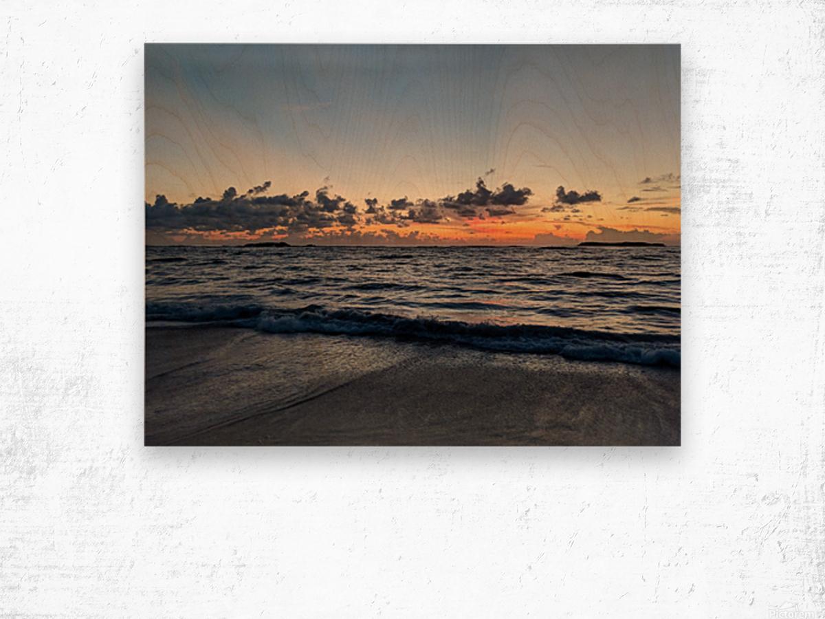Eleuthera Glow Wood print