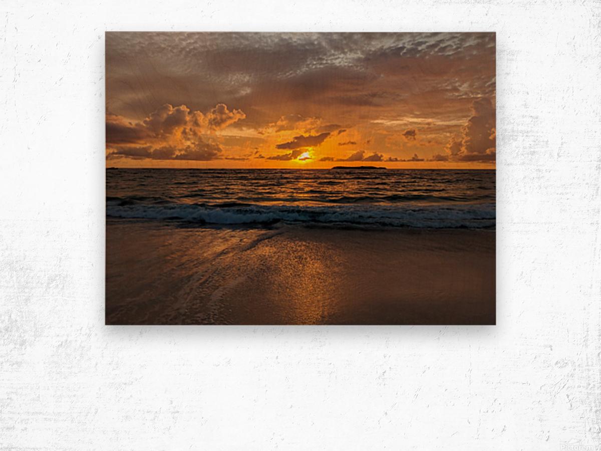 Eleuthera Golden Morning Wood print
