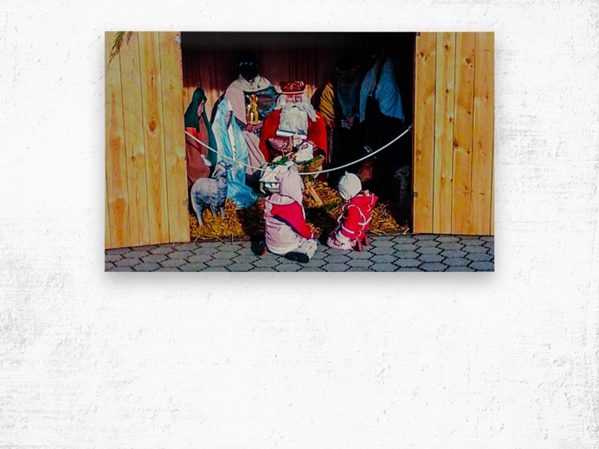 Hungarian Nativity Scene Wood print