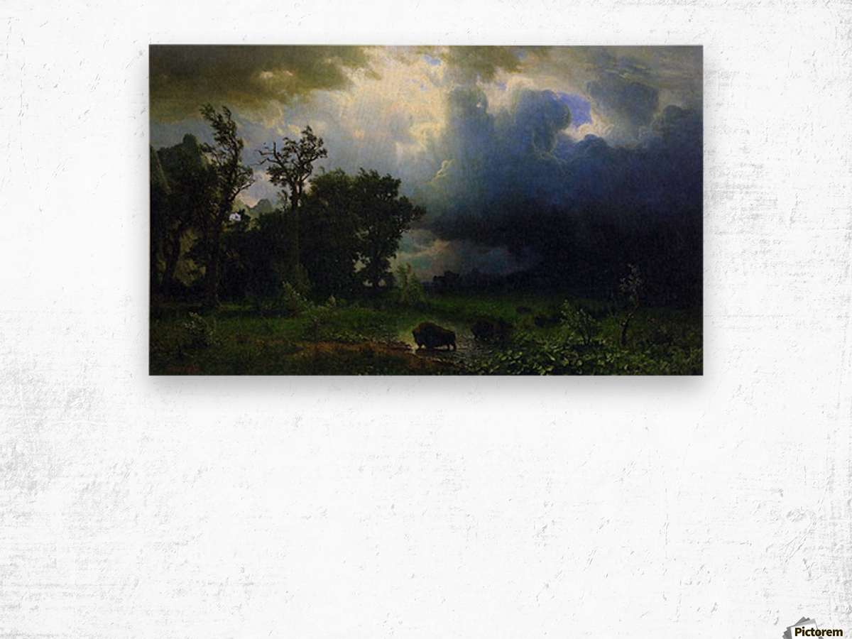 Before the Storm by Bierstadt Wood print