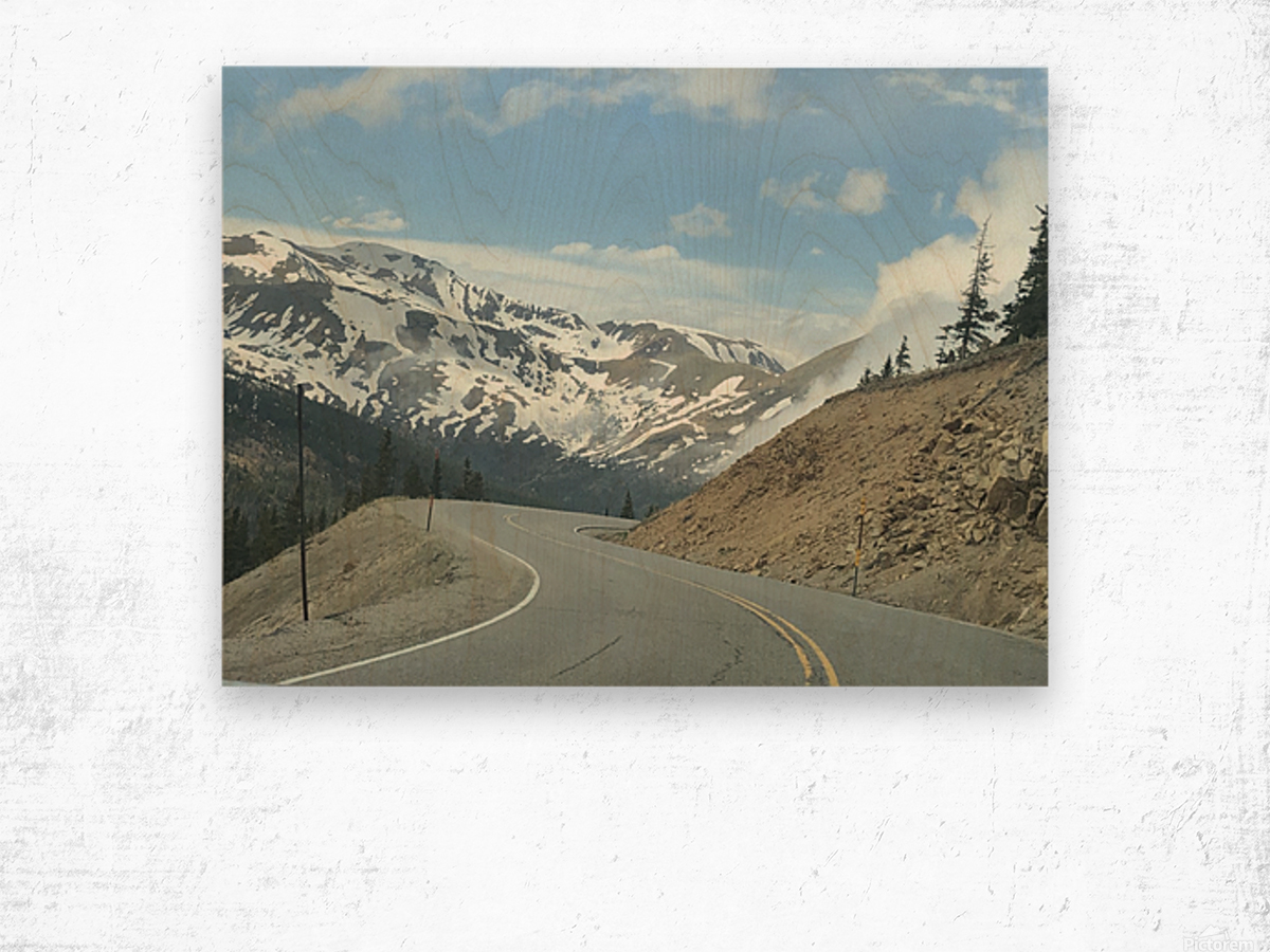 Old Country Road...Up In the Mountains Wood print